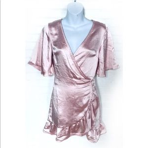 Lulus pastel pink satin mini dress Sz. XS